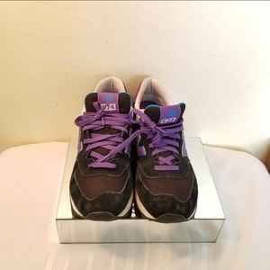 NEW BALANCE WL574MOX BLACK / PURPLE Women's Runnin